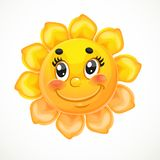 Cute smiling sun Stock Photo