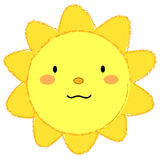 Cute smiling sun - vectorial Stock Images
