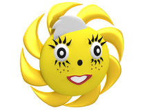 Cute smiling sun Royalty Free Stock Photos