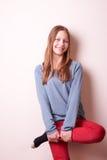 Cute smiling teen girl Stock Photo
