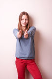 Cute smiling teen girl Stock Images