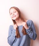 Cute smiling teen girl Stock Image