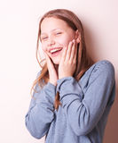 Cute smiling teen girl Stock Image