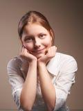 Cute smiling teen schoolgirl Stock Photography