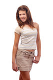 Cute smiling teenage girl in skirt and blouse Stock Images