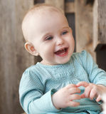 Cute smiling ten month old baby Royalty Free Stock Images