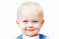 Cute smiling toddler royalty free stock photography