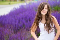 Cute smiling woman in park. Royalty Free Stock Image
