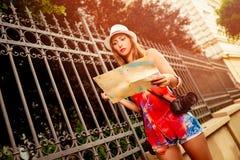 Beautiful Girl Tourist stock images