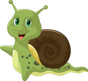 Cute Snail cartoon Royalty Free Stock Images