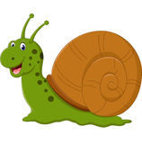 Cute snail cartoon Royalty Free Stock Photography