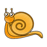 Cute snail comic character Royalty Free Stock Photography