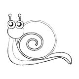 Cute snail comic character Royalty Free Stock Images
