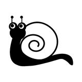 Cute snail comic character Royalty Free Stock Image