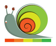Cute snail logo Stock Images