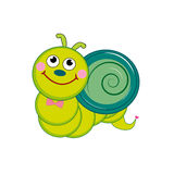 Cute snail vector illustration Royalty Free Stock Images