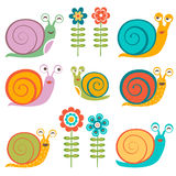 Cute snails collection Stock Photography