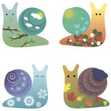 Cute snails royalty free illustration