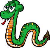 Cute Snake. Vector illustration of a cute cartoon snake slithering along Royalty Free Stock Photo