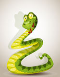 Cute snake bent in the form of a Christmas tree Royalty Free Stock Photos