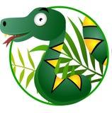 Cute snake cartoon Royalty Free Stock Photography