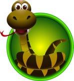 Cute snake cartoon Stock Image