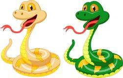 Cute snake cartoon Stock Images