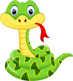 Cute snake cartoon Stock Images