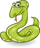 Cute snake cartoon illustration Stock Photography