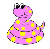 Cute snake cartoon illustration Royalty Free Stock Image