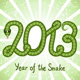 Cute snake (symbol of 2013 year) Stock Photography