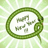 Cute snake (symbol of 2013 year) Stock Photos