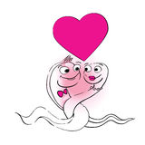 Cute snakes valentine s day Stock Images