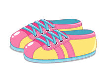 Cute Sneakers Royalty Free Stock Photography