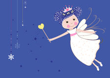 Cute snow fairy tale vector Stock Images