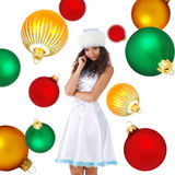 Cute Snow Maiden Stock Photography