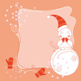 Cute snow man card Stock Images