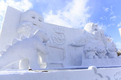 Cute Snow Sculpture Royalty Free Stock Image