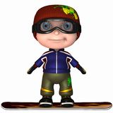Cute Snowboard Kid Stock Photos