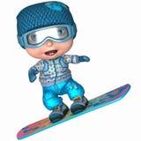 Cute Snowboard Kid. 3 D Render of an Cute Snowboard Kid Royalty Free Stock Photo
