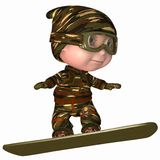Cute Snowboard Kid. 3 D Render of an Cute Snowboard Kid Royalty Free Stock Photo