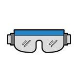 Cute snowboard protective glasses. Cartoon vector graphic design Stock Photo