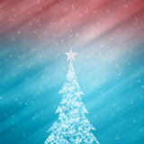 Cute snowflake Christmas tree copy space background Royalty Free Stock Photo