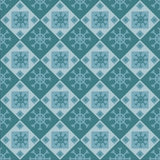 Cute snowflakes pattern Royalty Free Stock Photo
