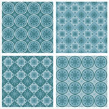 Cute snowflakes patterns Stock Image