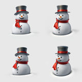 Cute snowman. Royalty Free Stock Photos