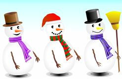 Cute Snowman Royalty Free Stock Photography