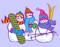 Cute snowman Royalty Free Stock Photos