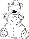 Cute snowman bear - vector illustration Stock Photos