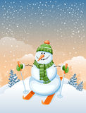 Cute snowman Stock Image